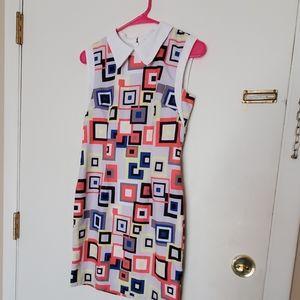 Geometric collared dress